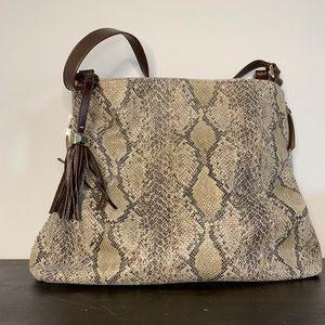 Stella & Dot snakeskin hobo bag